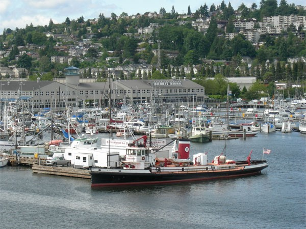 Fisherman's terminal at the north end of the Interbay neighborhood of Seattle