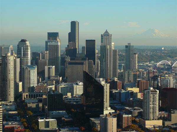 Downtown Seattle photo on Seattle Commercial Real Estate web post regarding escalating prices