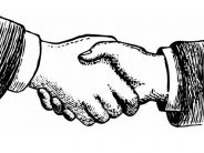 Handshake sketch, for A Super Salesman post at Seattle Commercial Real Estate LLC