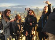 Tourists in Seattle, WA